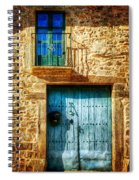 Medieval Spanish Gate And Balcony - Vintage Version Spiral Notebook