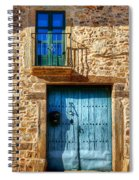 Medieval Spanish Gate And Balcony Spiral Notebook