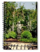 Meditation Garden Spiral Notebook