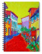 Mediterranean Cityscape Spiral Notebook