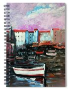 Mediterranean Port Spiral Notebook