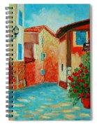 Mediterranean Street Spiral Notebook