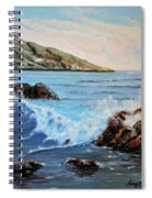 Mediterranean Wave Spiral Notebook
