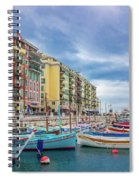 Meditteranean Life In Nice, France Spiral Notebook