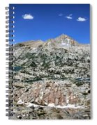 Medley Lake Basin Panorama From High Above - Sierra Spiral Notebook