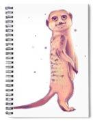 Meerkat, Digital Artwork Spiral Notebook