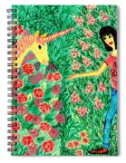 Meeting In The Rose Garden Spiral Notebook