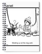 Meeting Up In Dog Park Spiral Notebook