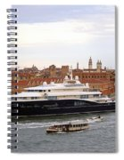 Mega Luxury Yacht The Carinthia Vll In Venice, Italy Spiral Notebook