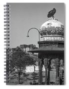 Mehrangarh Fort - Approach With Caution Bw Spiral Notebook