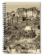 Mehrangarh Fort Sepia Spiral Notebook