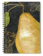 Melange French Yellow Pear Spiral Notebook