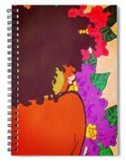 Melanin And Flowers Spiral Notebook