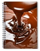 Melted Chocolate And Spoon Spiral Notebook