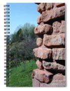 Melting Brick Wall Spiral Notebook