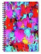 Melting Flowers Abstract  Spiral Notebook