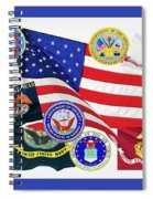 Memorial Day Collage Spiral Notebook
