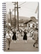 Memorial Day Parade Ashley Pa With Train Station And The Huber Colliery In Background 1955 Spiral Notebook