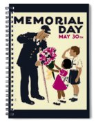 Memorial Day Poster Wpa Spiral Notebook