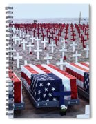 Memorial Day Remembrance At The Beach Spiral Notebook