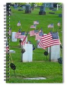 Memorial Day Salute Spiral Notebook