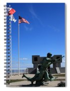 Memorial To The Fallen Soldier Spiral Notebook