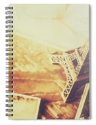 Memories And Mementoes Of Travelling France Spiral Notebook