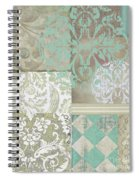 Memories And Whispers Aqua Spiral Notebook