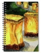 Memories Luminaria Spiral Notebook