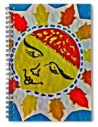 Memory Game Sun Spiral Notebook