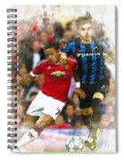 Memphis Depay Of Manchester United In Action Spiral Notebook