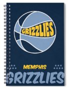Memphis Grizzlies Vintage Basketball Art Spiral Notebook