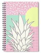 Memphis Pineapple Top Spiral Notebook