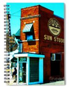 Memphis Sun Studio Birthplace Of Rock And Roll 20160215sketch Spiral Notebook