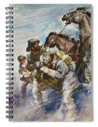 Men And Horses Battling A Storm Spiral Notebook