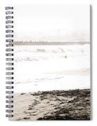 Men On Beach Spiral Notebook
