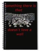 Mending Wall Transparent Background Spiral Notebook