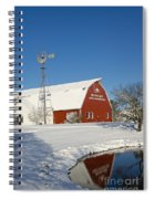 Menno Hof In The Snow 2 Spiral Notebook