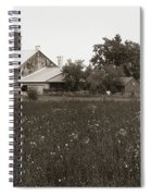 Mennonite Farm - Brown And White Field Spiral Notebook