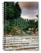 Menorah At Knesset Spiral Notebook