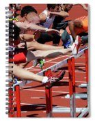 Mens Hurdles 2 Spiral Notebook
