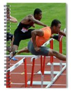 Mens Hurdles Spiral Notebook