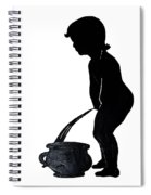 Mens Room Sign Silhouette Spiral Notebook
