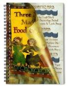 Menu From A Medieval Restaurant Spiral Notebook