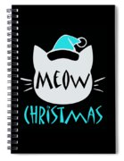 Meow Christmas Spiral Notebook