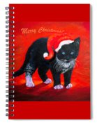 Meow Christmas Kitty Spiral Notebook