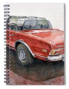 Mercedes Benz W113 Sl280 Spiral Notebook
