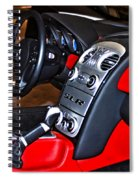 Mercedes Slr Concept Car Interior Spiral Notebook