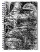 Merchant Seafarers War Memorial Cardiff Bay Black And White Spiral Notebook