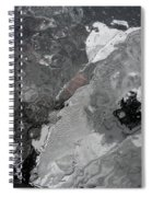 Mercurial Ice Abstract Spiral Notebook